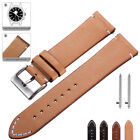 Genuine Leather Watch Band 18 20 22mm Strap For Seko Watch Quick Release Pins image