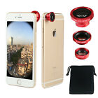 3 in1 Magnetic Camera Lens Wide Angle+Fish Eye+Macro for Mobile Phone Universal