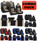 Polyester Car Seat Covers & PU Leather Trim Carpet Floor Mats for Auto Set on eBay