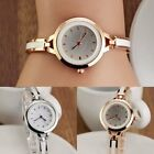 Women's Quartz Wristwatch Bangle Style Silver Golden Wrist Watch Bracelet US image