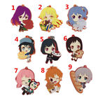 Anime BanG Dream Rubber keychain Key Ring Race Straps cosplay