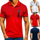 Men's Slim Fit Polo Shirts Short Sleeve Casual Golf T-Shirts Sports Jersey Tops image