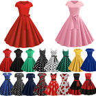 Womens Vintage Retro Hepburn ROCKABILLY Dress Evening Party Cocktail Swing Dress