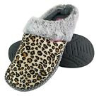 Dunop - Ladies Cute Cosy Plush Memory Foam Knitted Slippers with Open Back Mules