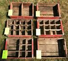 Antique Vintage Collectible Coca-Cola Wooden Crates Carrier Boxes Red Soda Pop!! $24.95  on eBay