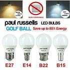 60W/40W/25W LED Round Golf Light Bulbs SBC Small Bayonet E14/B22/E27/B15 Bulb