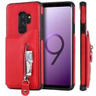 For Samsung Galaxy S10 S9 S8 Note 10 Plus Wallet Card Holder Leather Case Cover