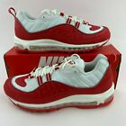 Nike Air Max 98 Men's University Red White Sneakers 640744 602 New With Box