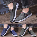 Men's Casual Cloth Shoes Canvas Slip on Loafers Leisure Flat Boat Shoes GIFT