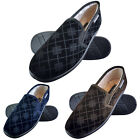 DUNLOP - Mens Memory Foam Cushion Faux Fur Lined Moccasin Style Plaid Slippers