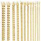 10K Yellow Gold Real 3.5mm-17mm Miami Cuban Link Chain Pendant Necklace 16'- 30'