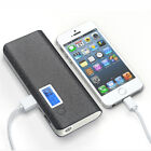 50000mAh Dual USB External Power Bank Portable LCD LED Charger for Mobile Phone