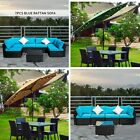 Outdoor Wicker Couch Garden Patio Sectional Rattan Sofa Sets Cushioned Furniture
