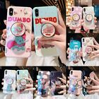 For IPhone X XS Max 7 8 + Cute Disney Dot Dumbo Elephant Stand Holder Phone Case £3.79 GBP on eBay