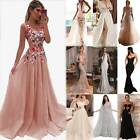 Women Long Maxi Formal Dress Evening Party Skirt Prom Cocktail Wedding Ball Gown $22.6 USD on eBay