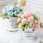 Artificial Silk Flower Plants In Pot Fake Home Wedding Party Office Decoration