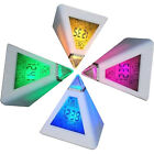 Small LED Digital Alarm Clocks Color Changing Night Light Desk Battery Operated