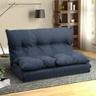 Folding Floor Sofa Bed Couch Adjustable Lounge Recliner Chair 2 Seater Furniture