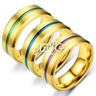 Men Women Stainless Steel Finger Ring Fashion Jewelry Couple Wedding Gift Hot