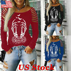 Women's Hollow Out Gothic Casual Tops Steampunk Punk Long Sleeve T-Shirt Blouse