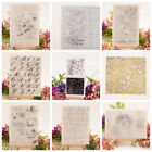 Transparent Clear Silicone Rubber Stamp Cling Diary Xmas Scrapbooking DIY GL