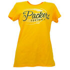 NFL Green Bay Packers Womens Yellow Tshirt Tee Short Sleeve Football Crew Neck $14.99 USD on eBay