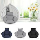 Hanging Egg Chair Cushion & Pillow Outdoor Porch Garden Swing Chair Padded Seat