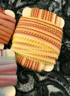 """Vintage Curly Ombre Variegated Ribbon 1/4"""" Flower Making 1yd Made in France"""