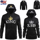 Fashion Matching Couple Hoodies King and Queen Couple Sweatshirt Pullover New