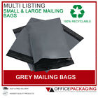 GREY MAILING BAGS STRONG POSTAL POLY SELF SEAL THICK ALL SIZES 6x9 - 21x24 HIGH
