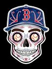 BOSTON RED SOX Sugar Skull Vinyl Sticker Decal Weather Resistant Unique
