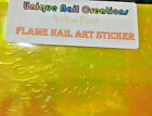 Holographic FIRE FLAME NAILS Pearl Stickers Manicure 1-Piece~Nail Art USA