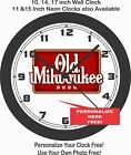 OLD MILWAUKEE BEER LOGO WALL CLOCK-PERSONALIZE IT FOR FREE!