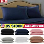 1/2Pack Pure Cotton Bed Pillow Case Pillow Covers Ultra Soft Solid Pillow Cases image