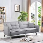 Modern Fabric Sofa Bed 3 Seater Click Clack Living Room Recliner Couch...