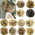 Used, Real 100% Human Hair Extension Wrap Messy Hair Bun Curly Heat Ponytail Hairpiece for sale  Shipping to South Africa