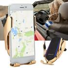 Qi Wireless Car Charger Automatic Charging Mount Sensor Clamping Phone Bracket
