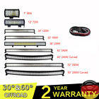12/22/32/42/52 inch LED Work Light Bar With Wiring for Car 4x4WD Off road Truck