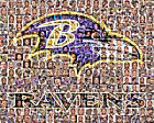 Baltimore Ravens Mosaic Print Art Designed Using Over 75 Greatest Raven Players $42.0 USD on eBay