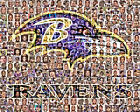 Baltimore Ravens Mosaic Print Art Designed Using Over 75 Greatest Raven Players $25.0 USD on eBay