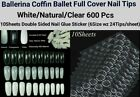500/600Pc Flat French/Ballerina Coffin/Stiletto/Almond/French False Nail/Tips