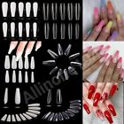 100/500/600Pcs Flat French/Coffin/Stiletto/Almond/Oval/French False Nail/Tips