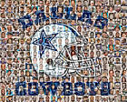 Dallas Cowboys Mosaic Print Art Designed Using over 100 of the Greatest Cowboy P $42.0 USD on eBay