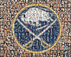 Buffalo Sabres Mosaic Print Art Designed Using Over 75 Past and Present Sabres P $55.0 USD on eBay