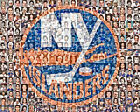 New York Islanders Mosaic Print Art Designed Using Over 100 Player Faces $40.0 USD on eBay