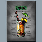 DRINKS AND COCKTAILS Metal Poster Wall Art MAI TAI