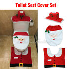 Au Santa Toilet Seat Cover Rug Bathroom Set Decoration Christmas Xmas Home Decor