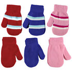 Baby Boy / Girl Toddler 2 Pack Lot Winter Cute Striped Hand Mittens Gloves