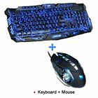 Gaming Keyboard Mouse Combo USB Ergonomics Membrane LED Backlit Desktop Laptop