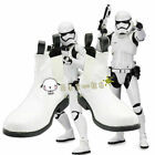 NEW !Star Wars The Force Awakens Stormtrooper White Short Cosplay Shoes Boots $48.0 USD on eBay